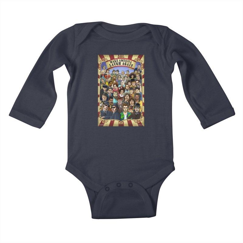 Make America Laugh Again (version 1) Kids Baby Longsleeve Bodysuit by bobtheTEEartist's Artist Shop