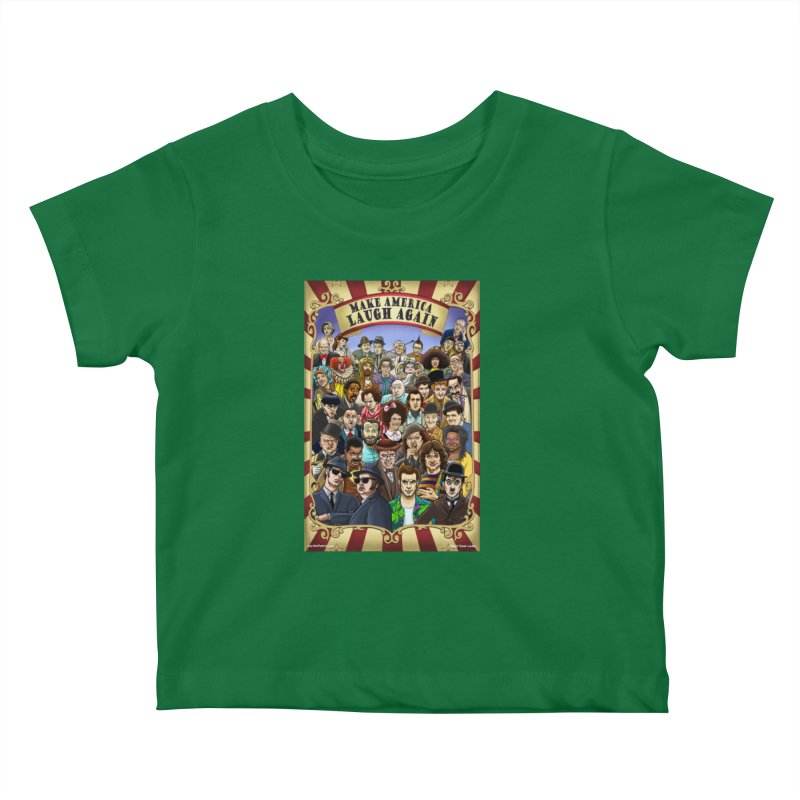 Make America Laugh Again (version 1) Kids Baby T-Shirt by bobtheTEEartist's Artist Shop