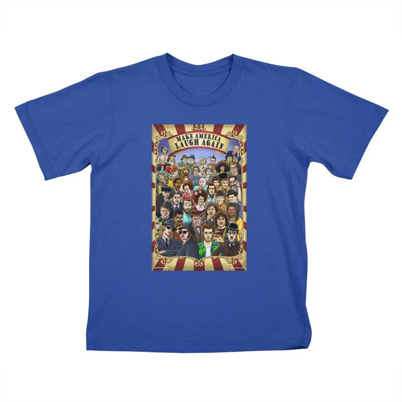 Make America Laugh Again (version 1) Kids T-Shirt by bobtheTEEartist's Artist Shop