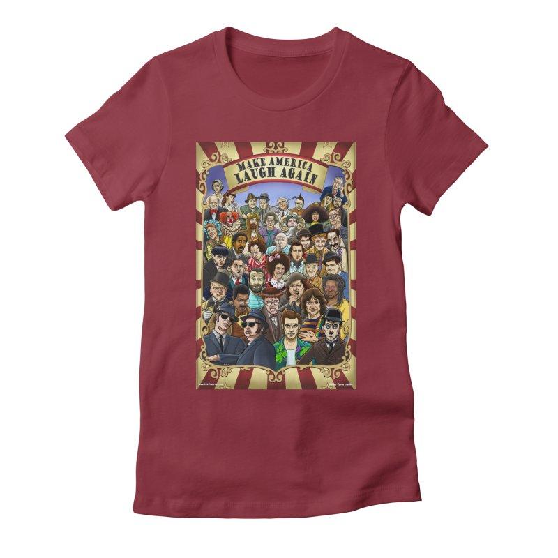 Make America Laugh Again (version 1) Women's T-Shirt by bobtheTEEartist's Artist Shop