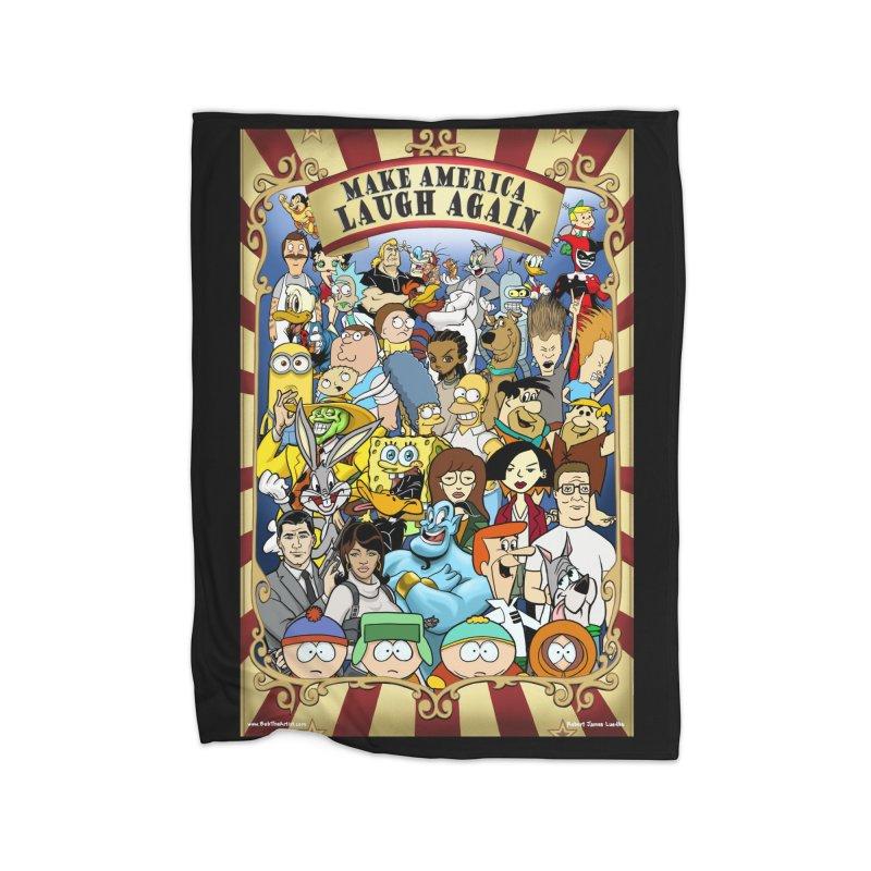 Make America Laugh Again (version 2) Home Blanket by bobtheTEEartist's Artist Shop