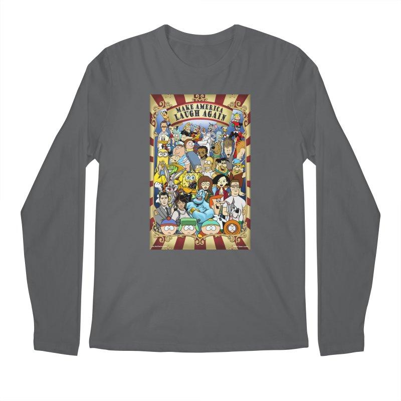 Make America Laugh Again (version 2) Men's Longsleeve T-Shirt by bobtheTEEartist's Artist Shop
