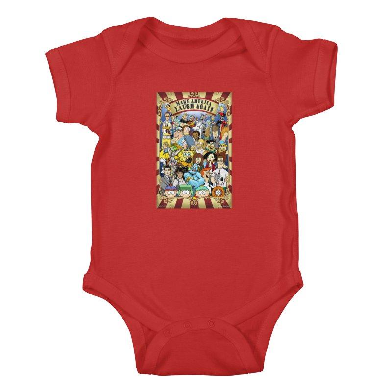 Make America Laugh Again (version 2) Kids Baby Bodysuit by bobtheTEEartist's Artist Shop