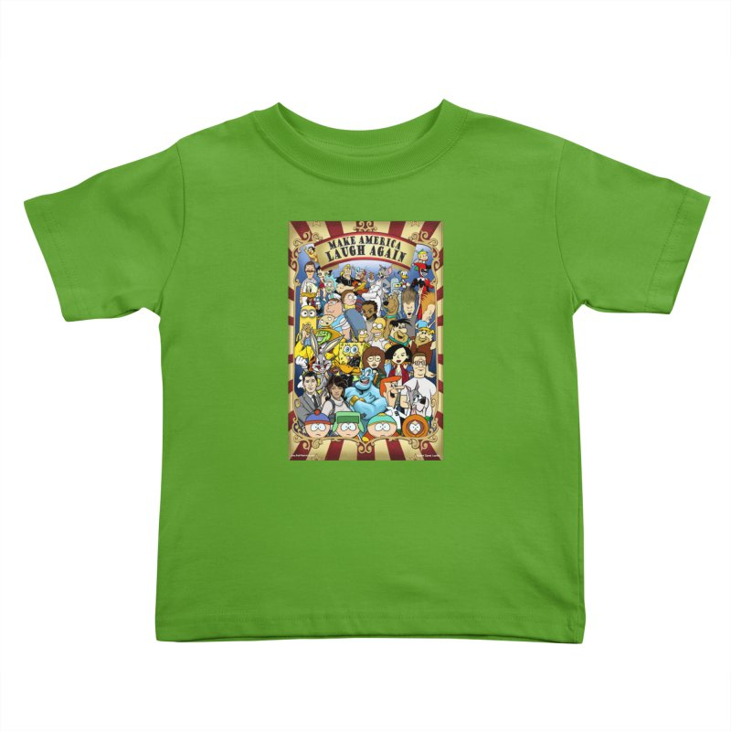 Make America Laugh Again (version 2) Kids Toddler T-Shirt by bobtheTEEartist's Artist Shop