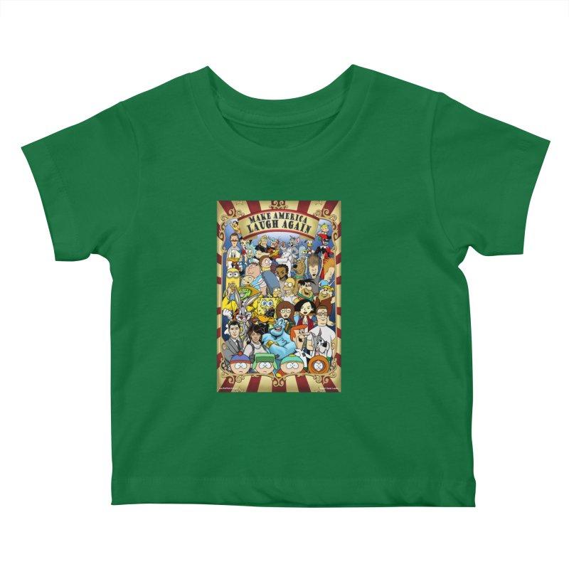 Make America Laugh Again (version 2) Kids Baby T-Shirt by bobtheTEEartist's Artist Shop