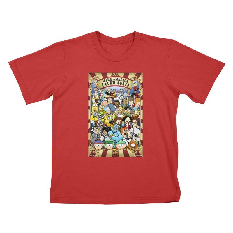 Make America Laugh Again (version 2) Kids T-Shirt by bobtheTEEartist's Artist Shop