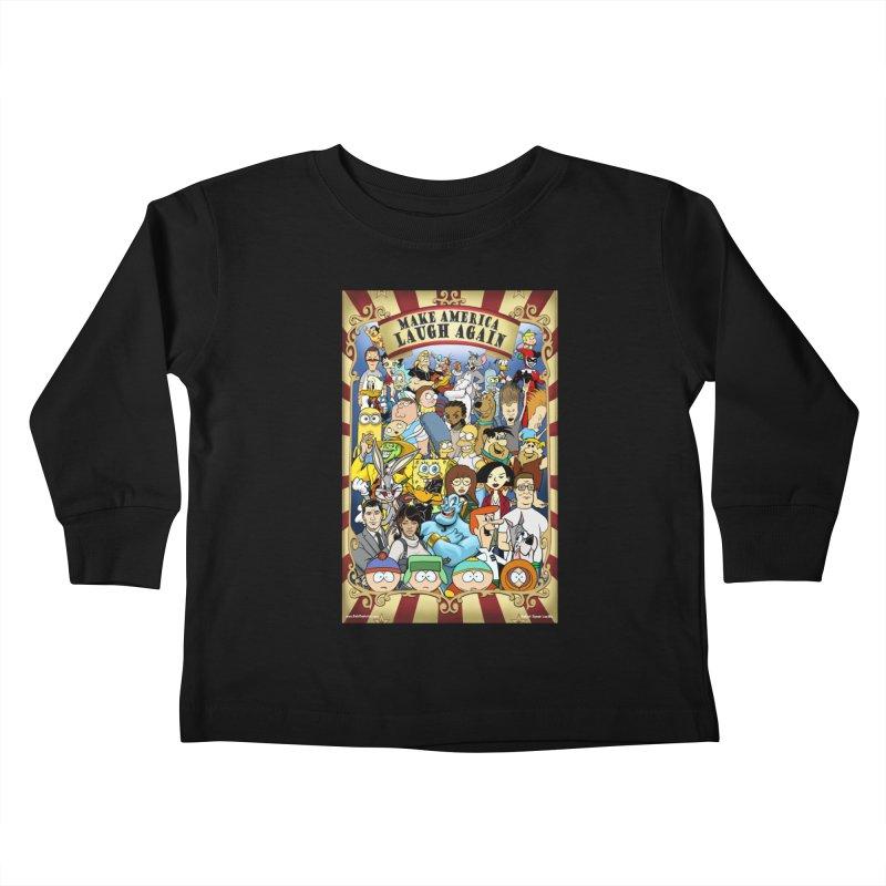 Make America Laugh Again (version 2) Kids Toddler Longsleeve T-Shirt by bobtheTEEartist's Artist Shop