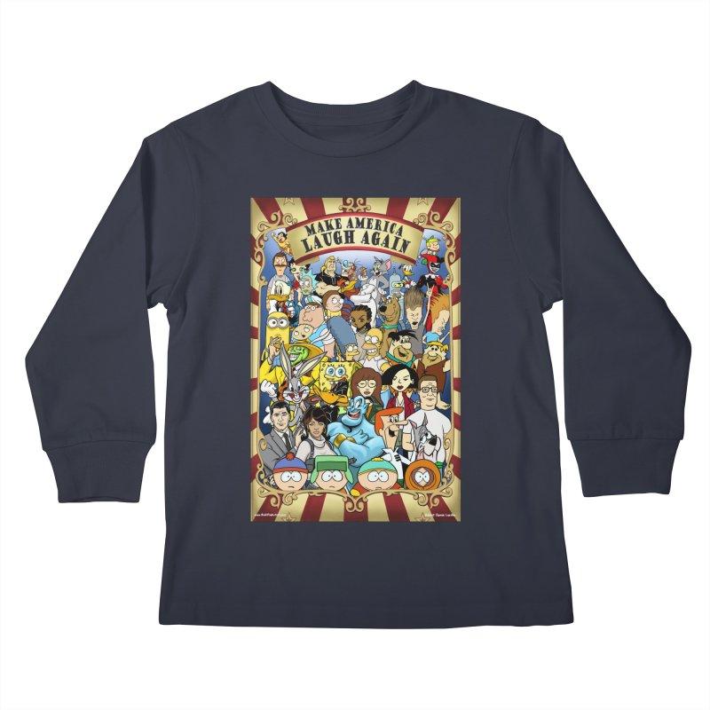 Make America Laugh Again (version 2) Kids Longsleeve T-Shirt by bobtheTEEartist's Artist Shop