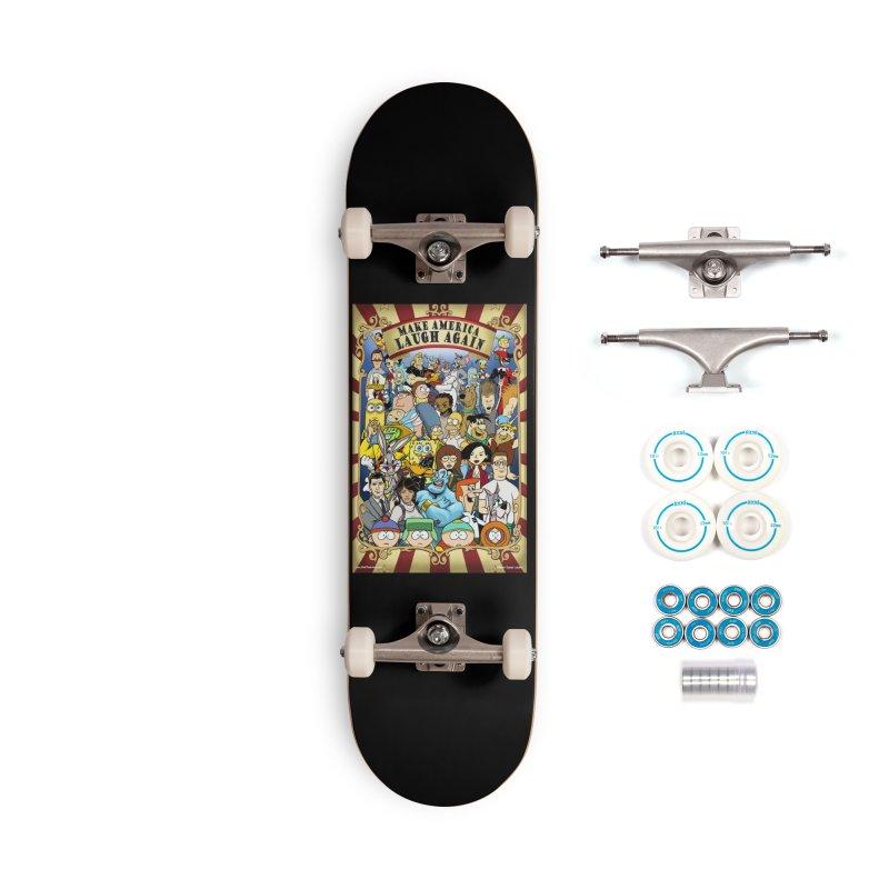 Make America Laugh Again (version 2) Accessories Skateboard by bobtheTEEartist's Artist Shop
