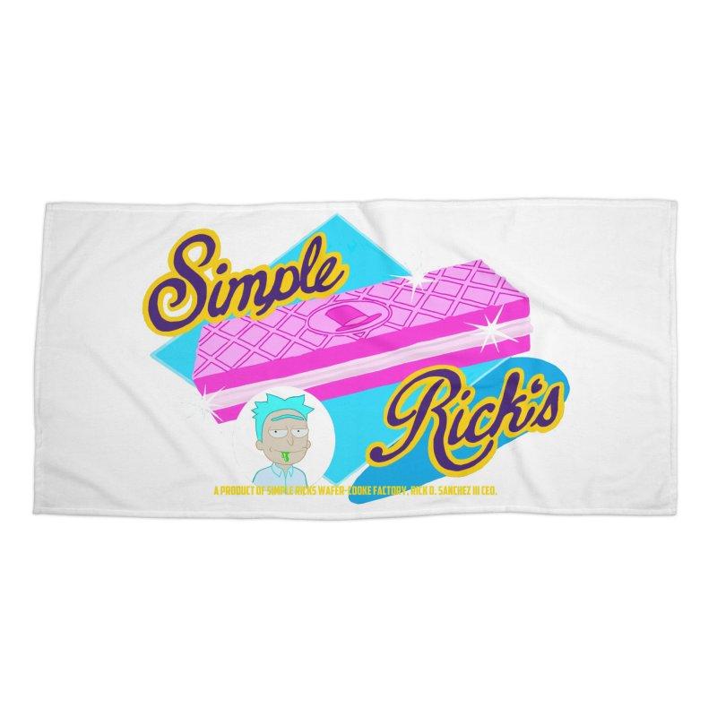 Simple Rick's Waffers Accessories Beach Towel by bobtheTEEartist's Artist Shop
