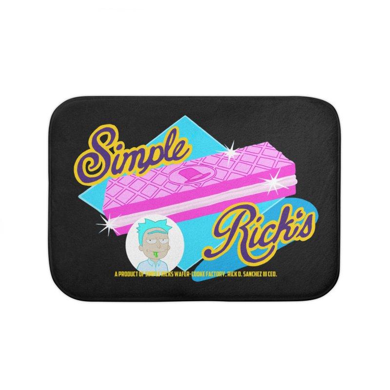 Simple Rick's Waffers Home Bath Mat by bobtheTEEartist's Artist Shop
