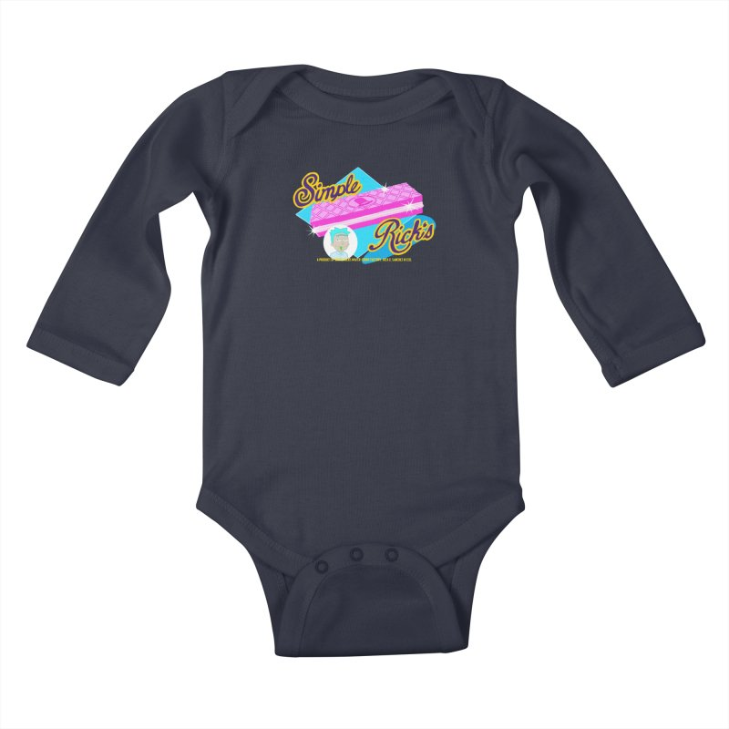 Simple Rick's Waffers Kids Baby Longsleeve Bodysuit by bobtheTEEartist's Artist Shop