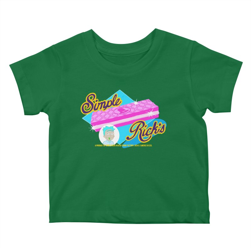 Simple Rick's Waffers Kids Baby T-Shirt by bobtheTEEartist's Artist Shop