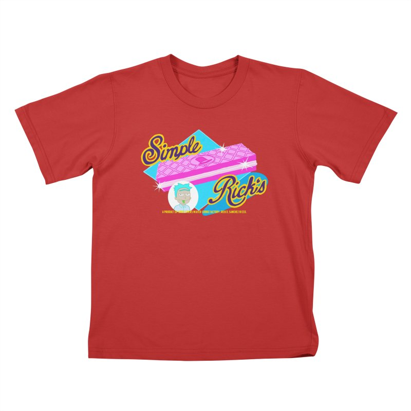 Simple Rick's Waffers Kids T-Shirt by bobtheTEEartist's Artist Shop