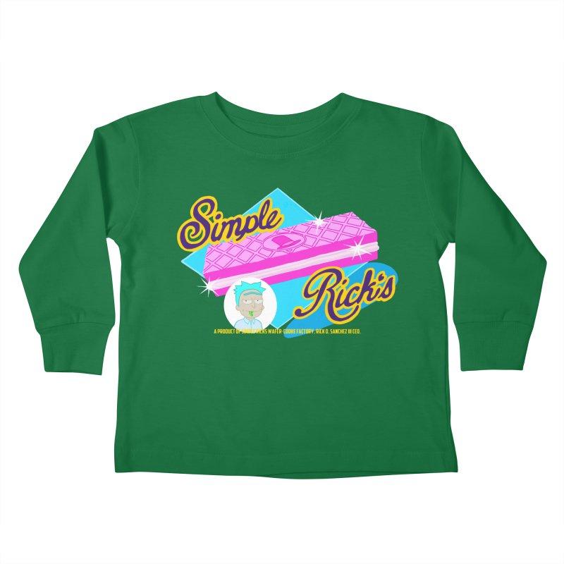 Simple Rick's Waffers Kids Toddler Longsleeve T-Shirt by bobtheTEEartist's Artist Shop