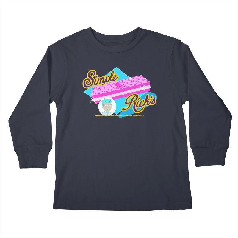 Simple Rick's Waffers Kids Longsleeve T-Shirt by bobtheTEEartist's Artist Shop