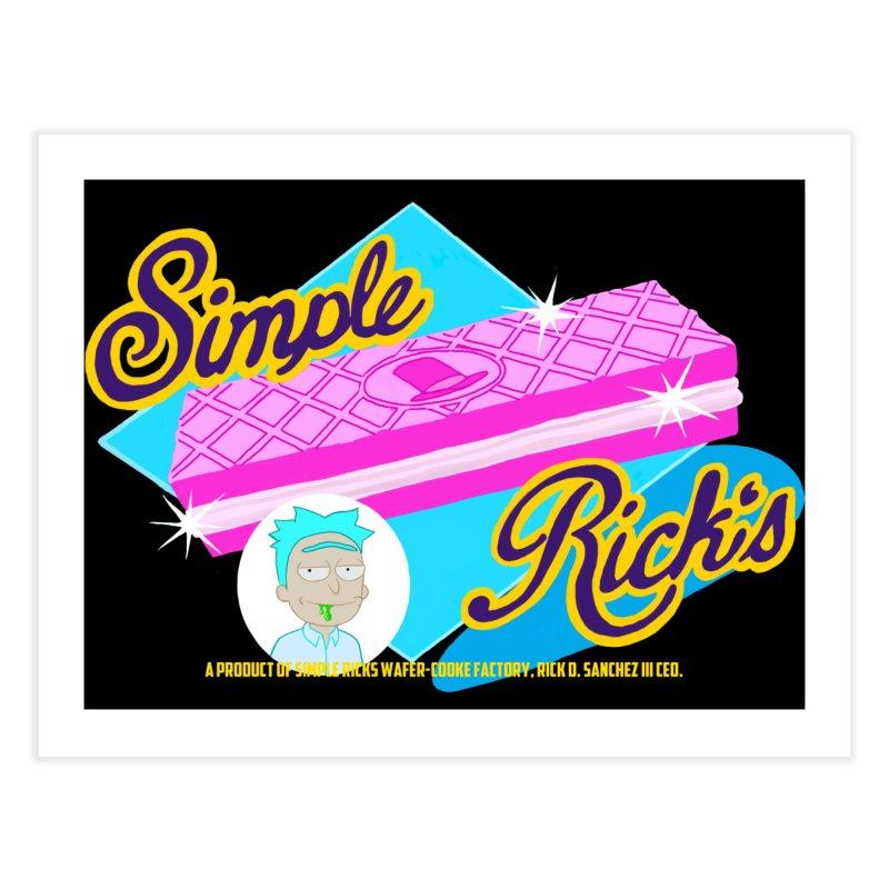 Simple Rick's Waffers Home Fine Art Print by bobtheTEEartist's Artist Shop