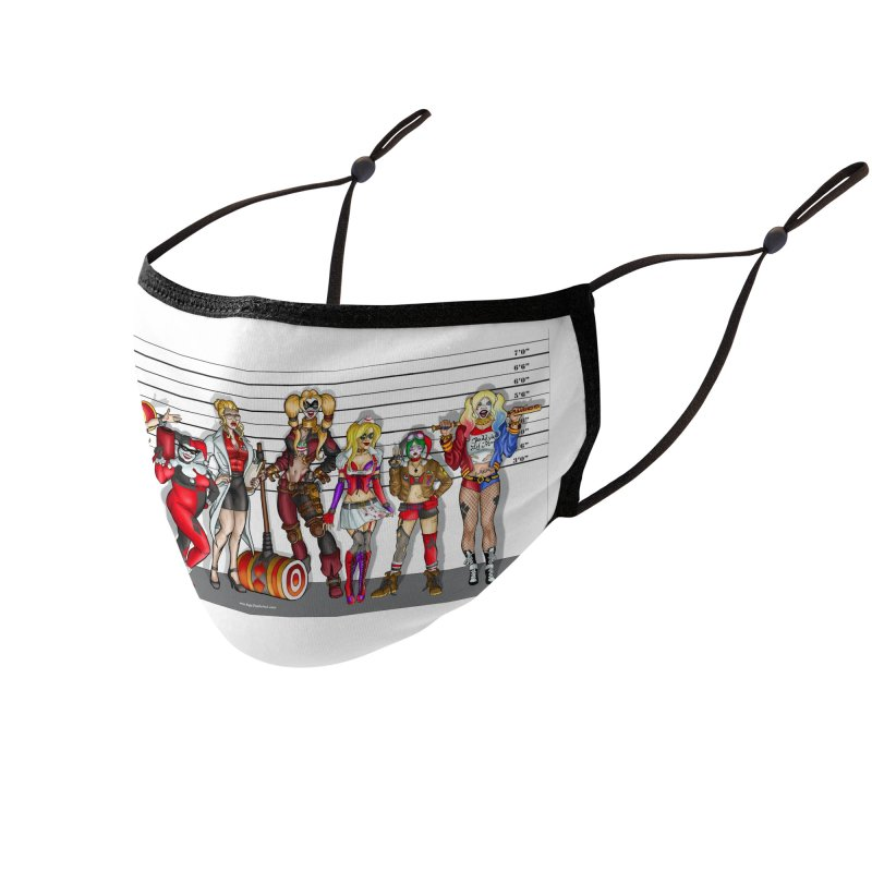 The Harley Quinn Lineup Accessories Face Mask by bobtheTEEartist's Artist Shop