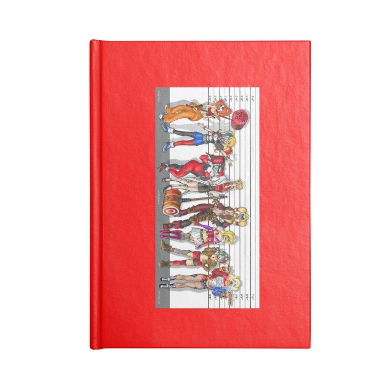 The Harley Quinn Lineup Accessories Notebook by bobtheTEEartist's Artist Shop