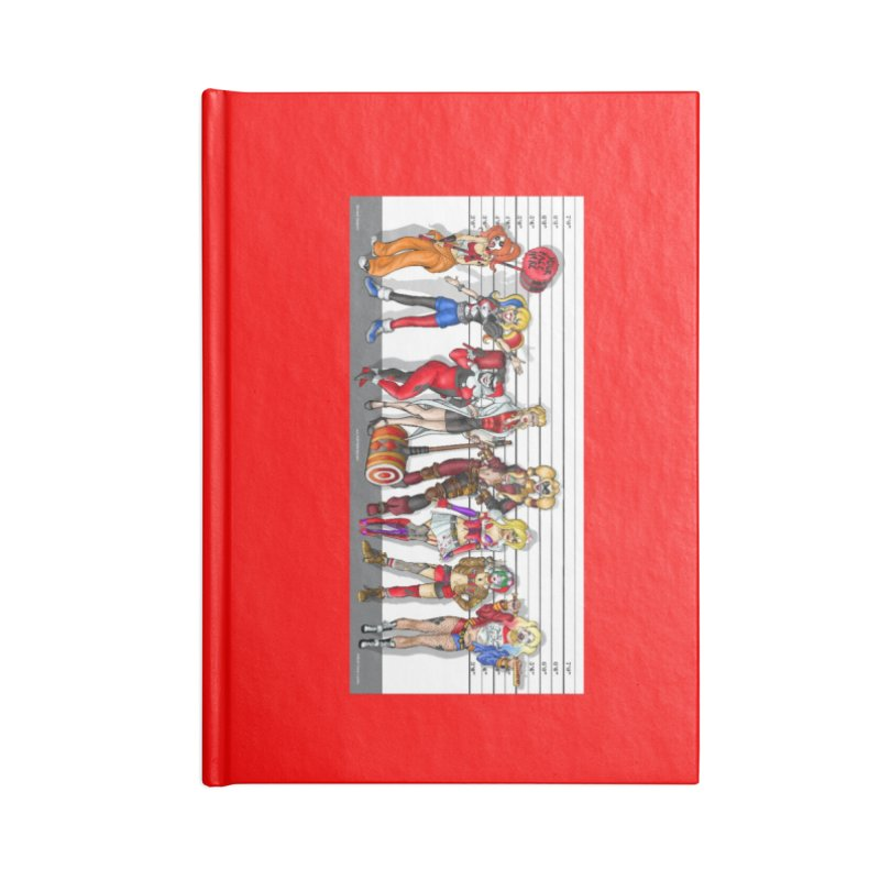 The Harley Quinn Lineup Accessories Notebook by bobtheTEEartist's Artist Shop
