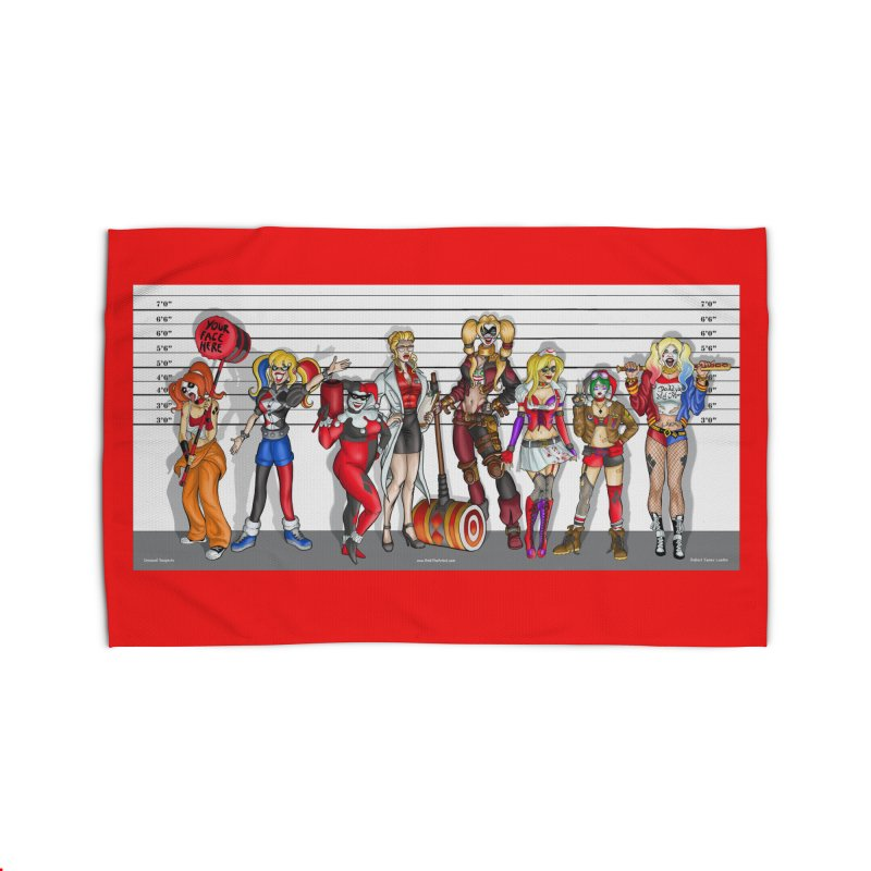 The Harley Quinn Lineup Home Rug by bobtheTEEartist's Artist Shop