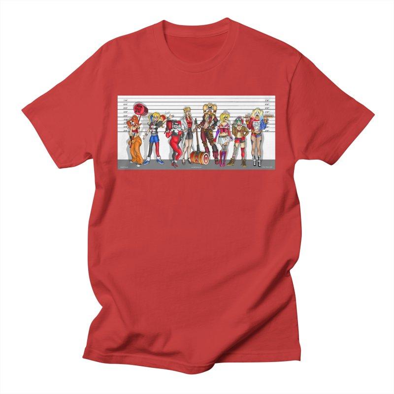 The Harley Quinn Lineup Men's T-Shirt by bobtheTEEartist's Artist Shop
