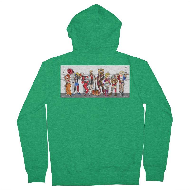 The Harley Quinn Lineup Men's Zip-Up Hoody by bobtheTEEartist's Artist Shop
