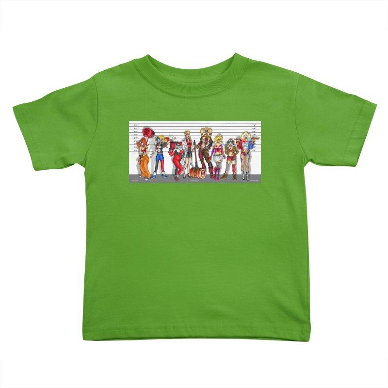 The Harley Quinn Lineup Kids Toddler T-Shirt by bobtheTEEartist's Artist Shop