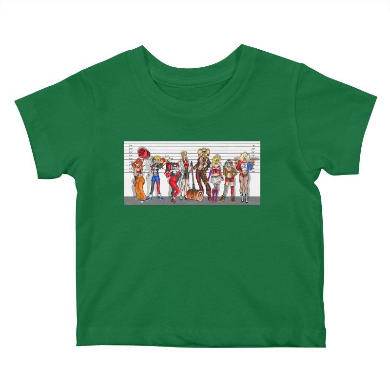 The Harley Quinn Lineup Kids Baby T-Shirt by bobtheTEEartist's Artist Shop
