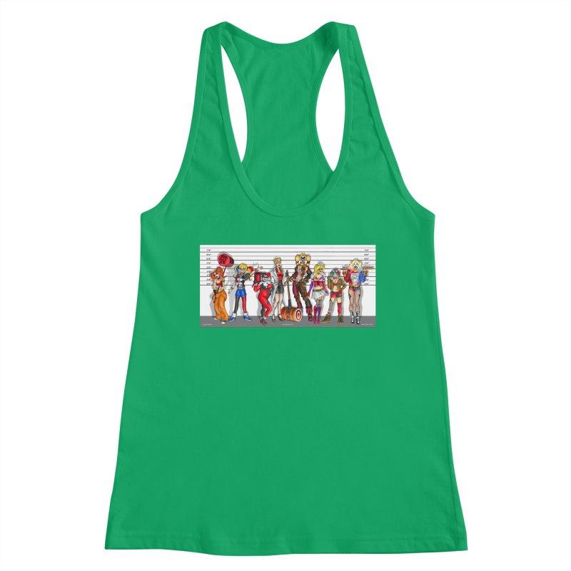 The Harley Quinn Lineup Women's Tank by bobtheTEEartist's Artist Shop