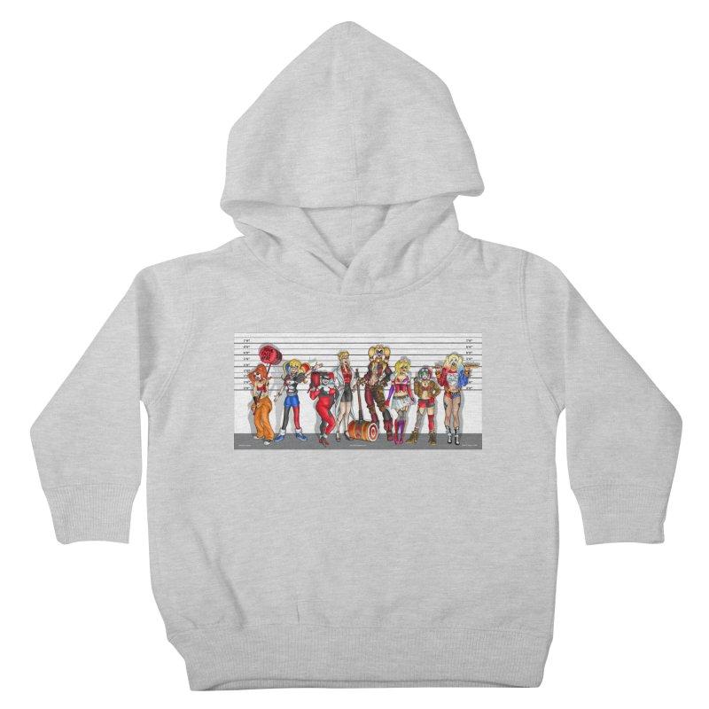 The Harley Quinn Lineup Kids Toddler Pullover Hoody by bobtheTEEartist's Artist Shop
