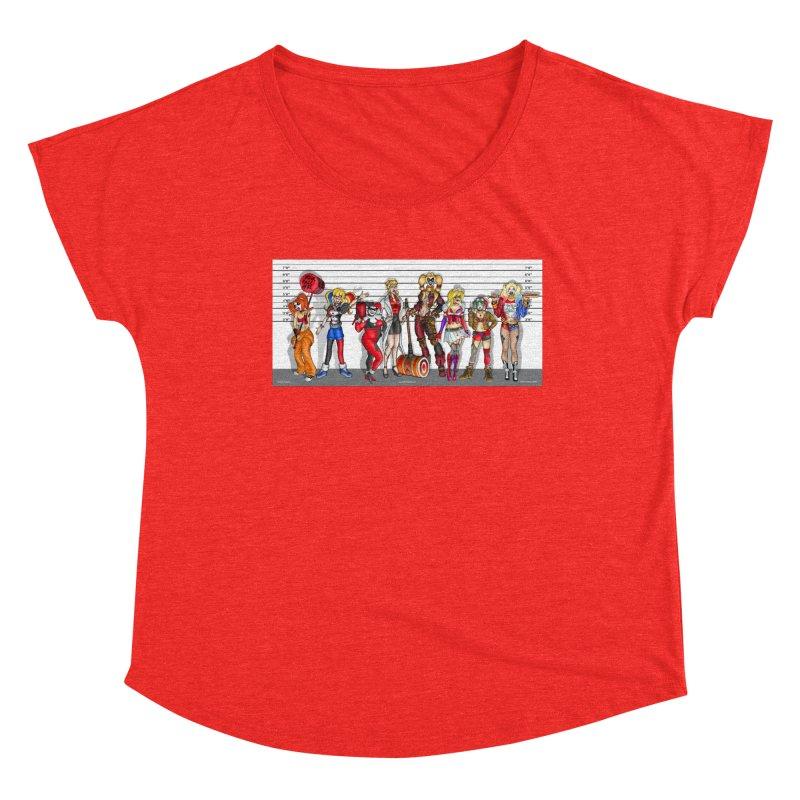 The Harley Quinn Lineup Women's Scoop Neck by bobtheTEEartist's Artist Shop
