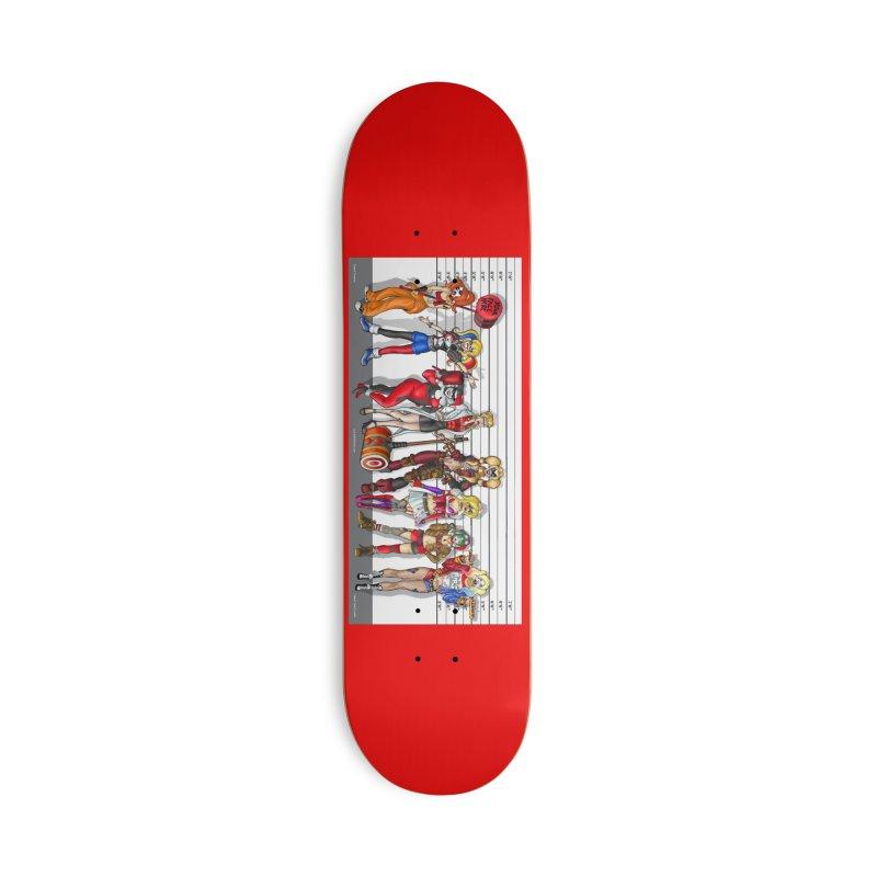 The Harley Quinn Lineup Accessories Skateboard by bobtheTEEartist's Artist Shop