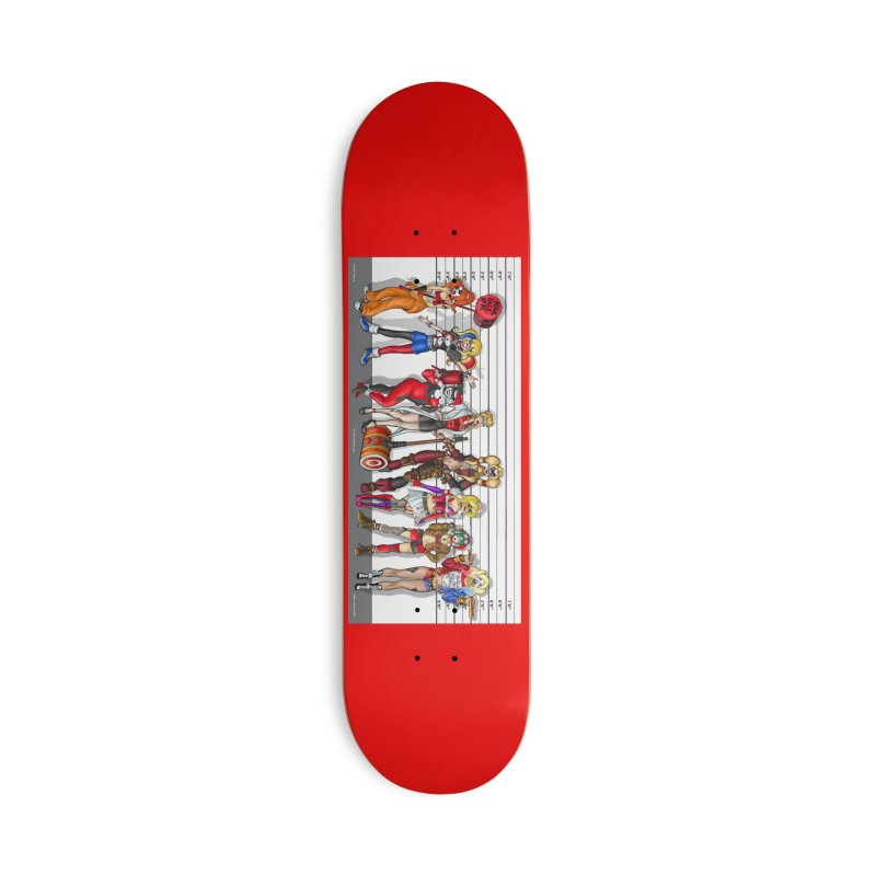 The Harley Quinn Lineup Accessories Skateboard by bobtheTEEartist's Artist Shop