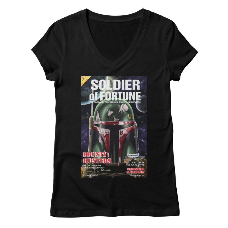 Bobba Fett: Soldier of Fortune Women's V-Neck by bobtheTEEartist's Artist Shop