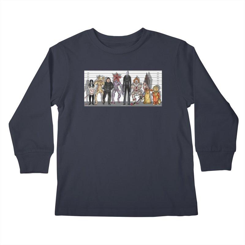 21st Century Monsters Kids Longsleeve T-Shirt by bobtheTEEartist's Artist Shop