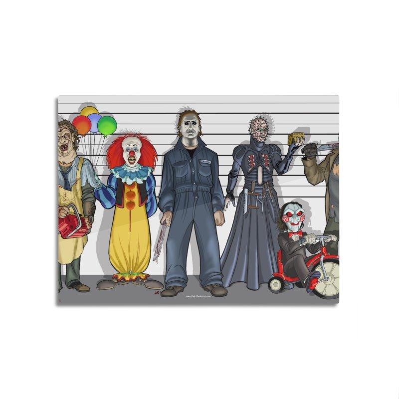 Modern Monsters Home Mounted Aluminum Print by bobtheTEEartist's Artist Shop