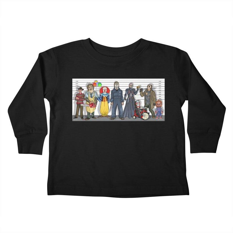 Modern Monsters Kids Toddler Longsleeve T-Shirt by bobtheTEEartist's Artist Shop