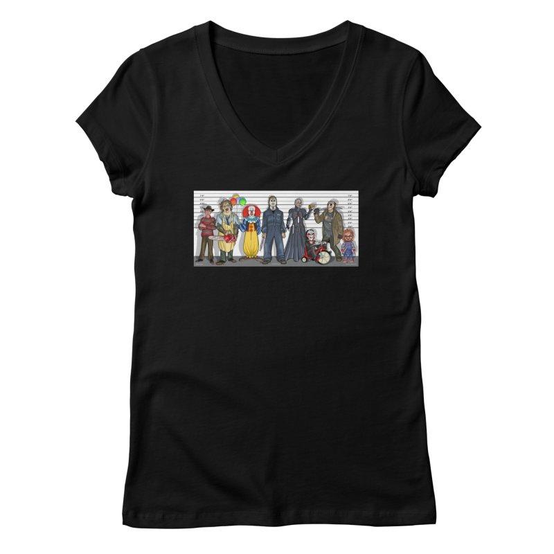 Modern Monsters Women's V-Neck by bobtheTEEartist's Artist Shop