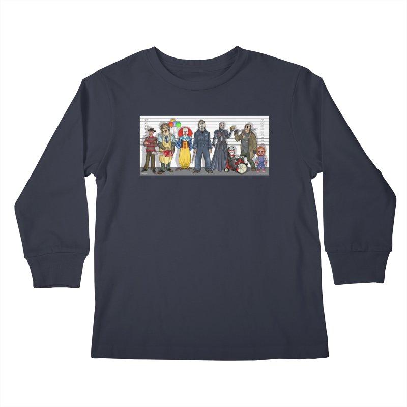 Modern Monsters Kids Longsleeve T-Shirt by bobtheTEEartist's Artist Shop