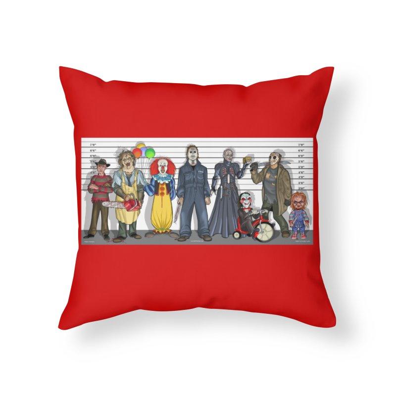 Modern Monsters Home Throw Pillow by bobtheTEEartist's Artist Shop
