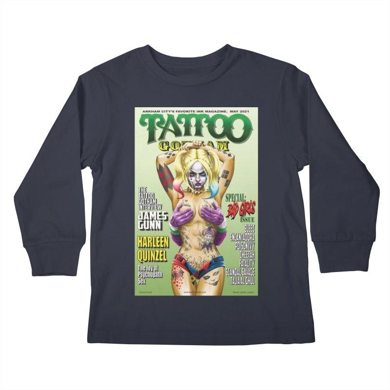 tatted Harley Kids Longsleeve T-Shirt by bobtheTEEartist's Artist Shop