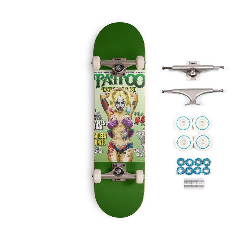tatted Harley Accessories Skateboard by bobtheTEEartist's Artist Shop