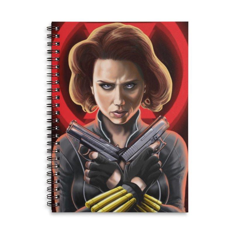 Black Widow (Black Costume) Accessories Notebook by bobtheTEEartist's Artist Shop