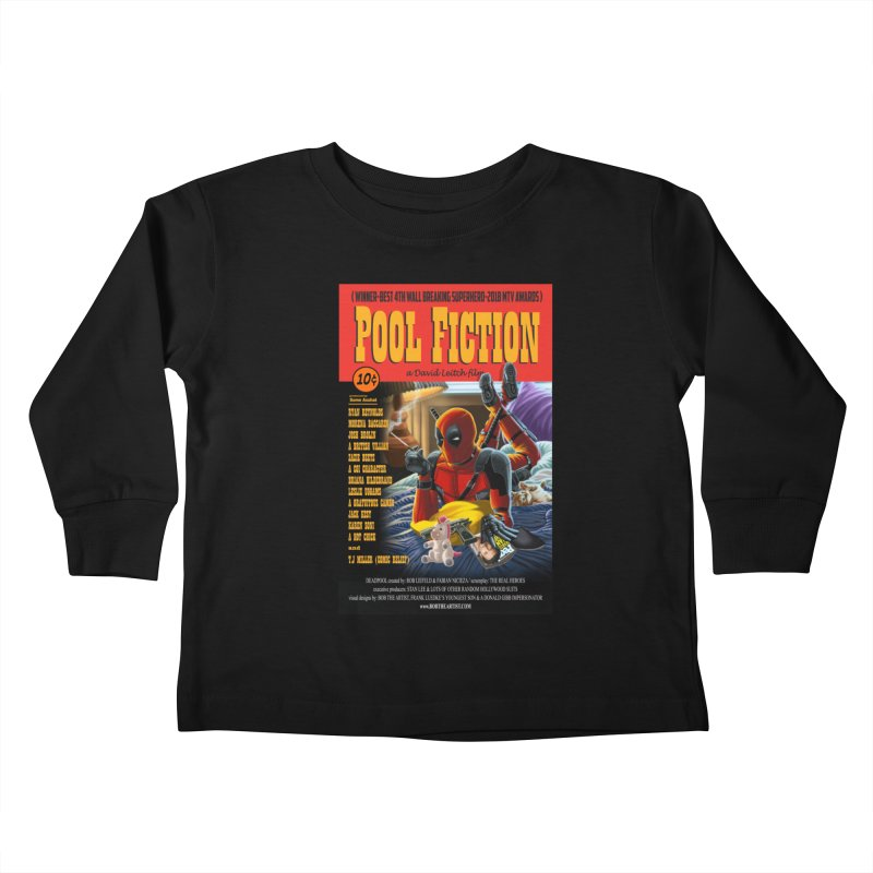 Pool Fiction Kids Toddler Longsleeve T-Shirt by bobtheTEEartist's Artist Shop