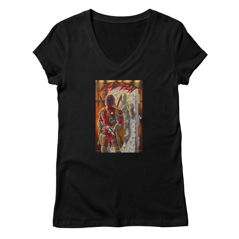 Dead Fett Women's V-Neck by bobtheTEEartist's Artist Shop