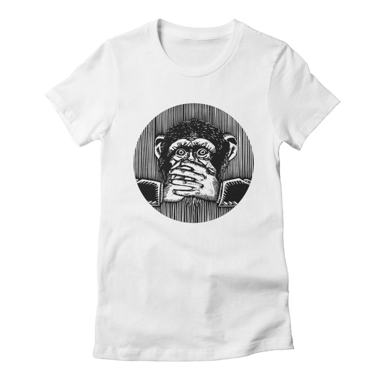 Speak no evil Women's Fitted T-Shirt by bobvogt's Artist Shop