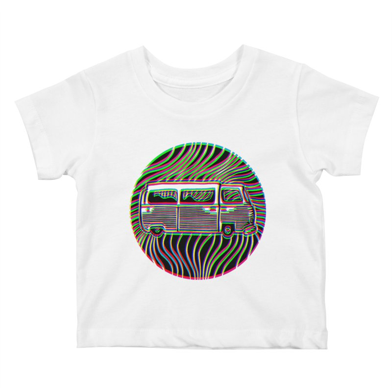 Road trip Kids Baby T-Shirt by bobvogt's Artist Shop