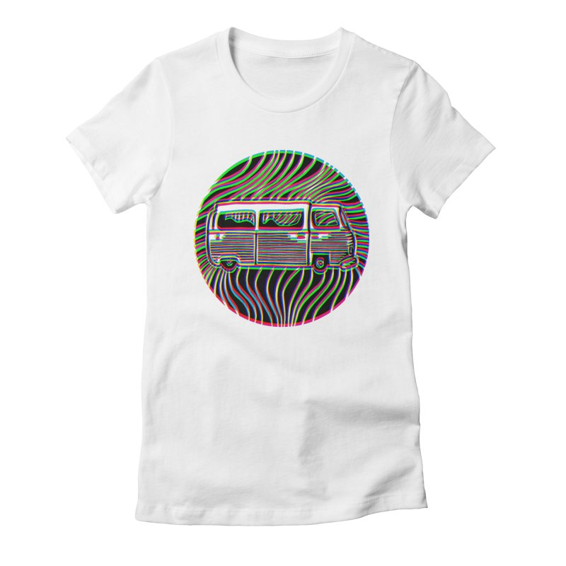 Road trip Women's Fitted T-Shirt by bobvogt's Artist Shop