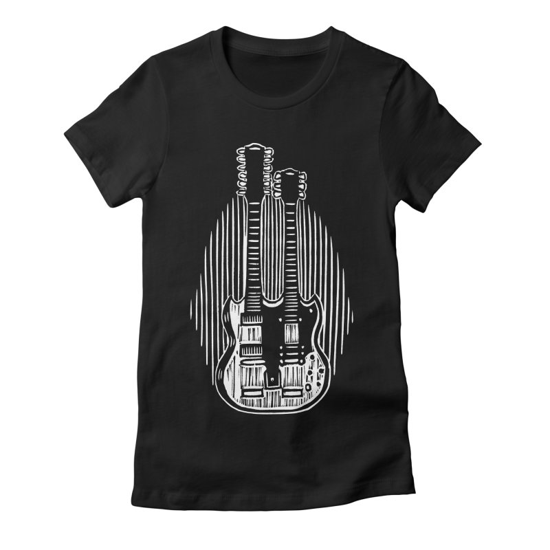 Guitar Women's Fitted T-Shirt by bobvogt's Artist Shop